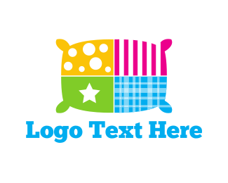 Sleeping - Colorful Pillow logo design