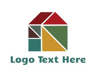 Hut - Geometric House logo design