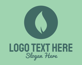 Herbal - Circle & Leaf logo design