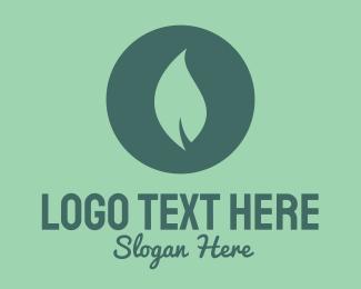 Outdoors - Circle & Leaf logo design