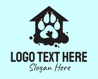 Shelter - Paw Print Shelter  logo design