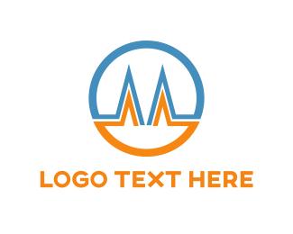 Technology - Letter M Circle logo design
