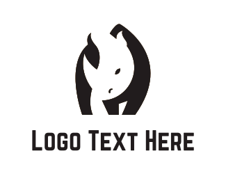 Big - Black Rhino logo design
