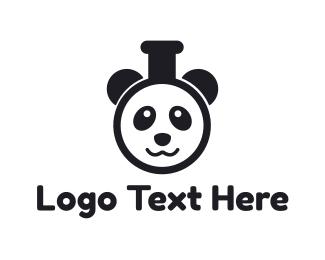 Pharmaceutical - Panda Test Tube logo design