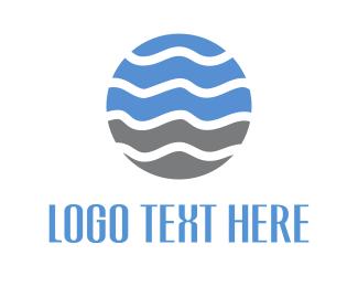 Planet - Wave Circle logo design