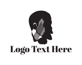 Barbershop - Gentleman Face logo design