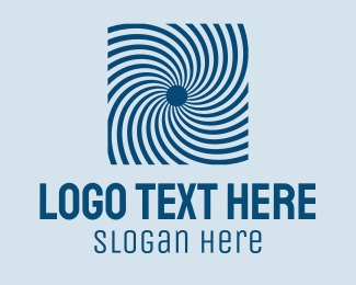 Optical - Blue Optical Illusion logo design