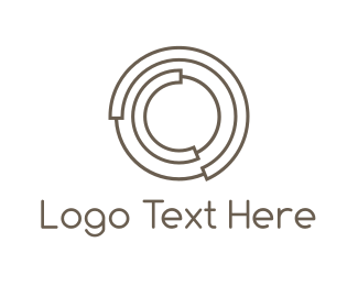 Communications - Concentric Circles logo design