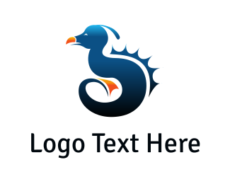 Sea - Sea Monster logo design