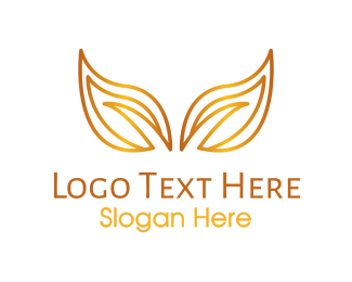 Massage Parlor - Gradient Gold Leaves logo design