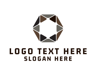 Jewel - Hexagonal Star logo design