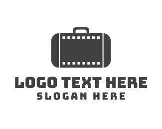 Film Festival - Filmstrip Suitcase logo design