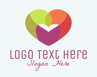 Partnership - Colorful Heart logo design