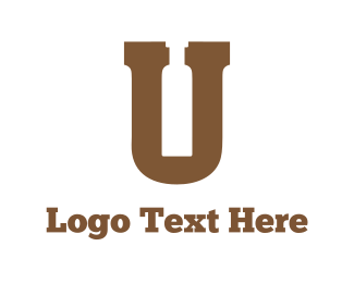 Letter U - Letter & Bottle logo design