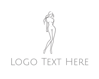 Minimalist - Naked Woman logo design