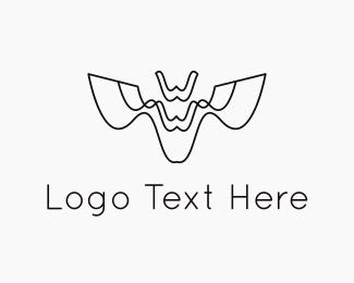 Drone - Abstract Bat logo design