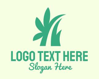 Massage Parlor - Blue Asbtract Leaf logo design