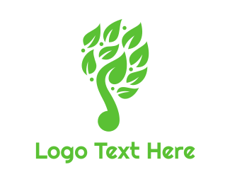 Primitive - Green Leaf Music Logo logo design