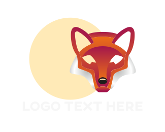 Canine - Abstract Red Fox logo design