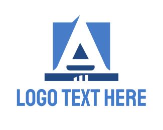 Attorney - Corporate Blue Letter logo design