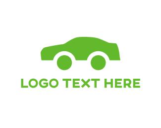 Vehicle - Green Car logo design