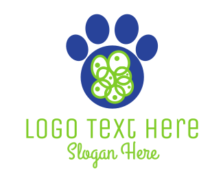 Paw - Blue Paw logo design