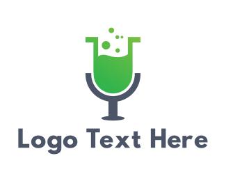 Chemist - Microphone Lab logo design