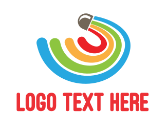 Lgbtiq - Rainbow Shuttlecock  logo design