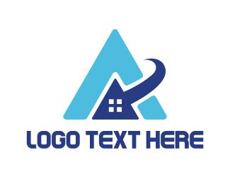 Cursor - Online Letter A logo design