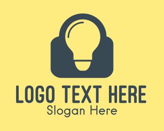 Security - Smart Bulb logo design