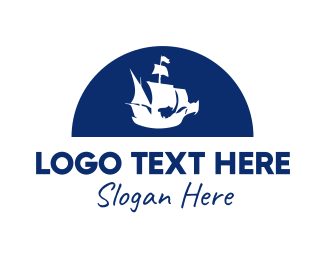 Exploration - Pirate Ship logo design