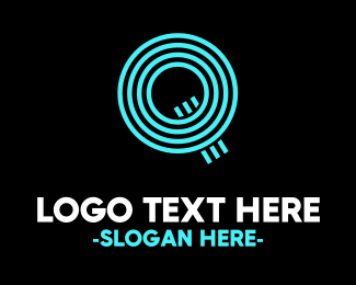 Future - Neon Q logo design
