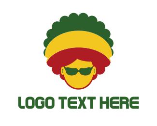 Sunglasses - Afro Rasta logo design