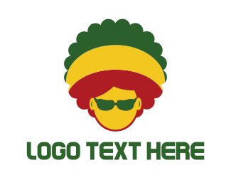 Cool - Afro Rasta logo design