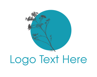 Stem - Blue Plant logo design