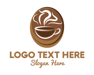 Barista - Brown Coffee Cup logo design