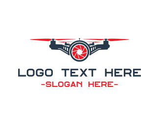 Photography - Red Drone Shutter logo design