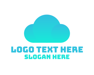 Shadow - Blue Cloud logo design