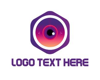 Hexagon - Hexagonal Camera logo design