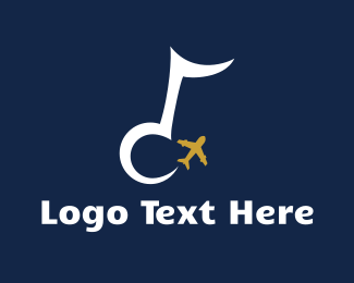 Aero - Musical Airplane logo design
