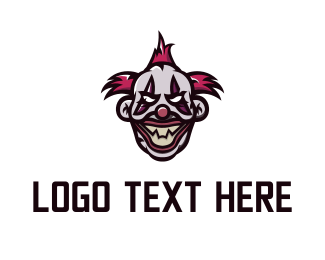 Horror - Evil Clown  logo design