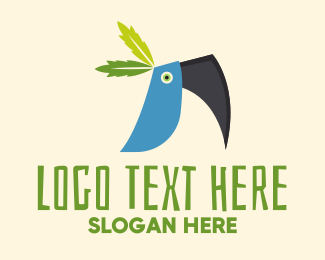 Toucan - Blue Toucan logo design