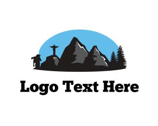 Pine Tree - Adventure Landscape logo design