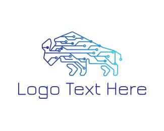 Chip - Techno Bison logo design