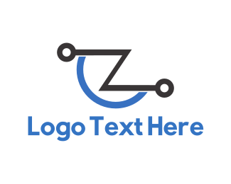 Electronics - Tech Letter Z logo design
