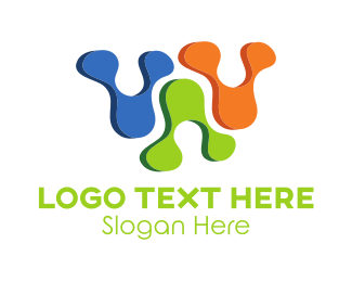 Virus - Abstract Colorful Shapes logo design