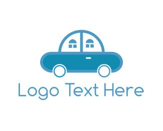 Car Garage - Car Home logo design