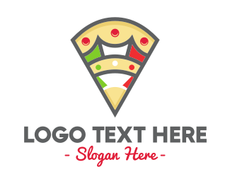 Mozzarella - Italian Pizza logo design
