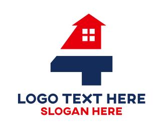 Home - Real Estate Number 4 logo design