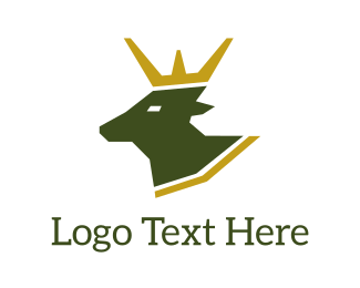 Deer - Deer King logo design